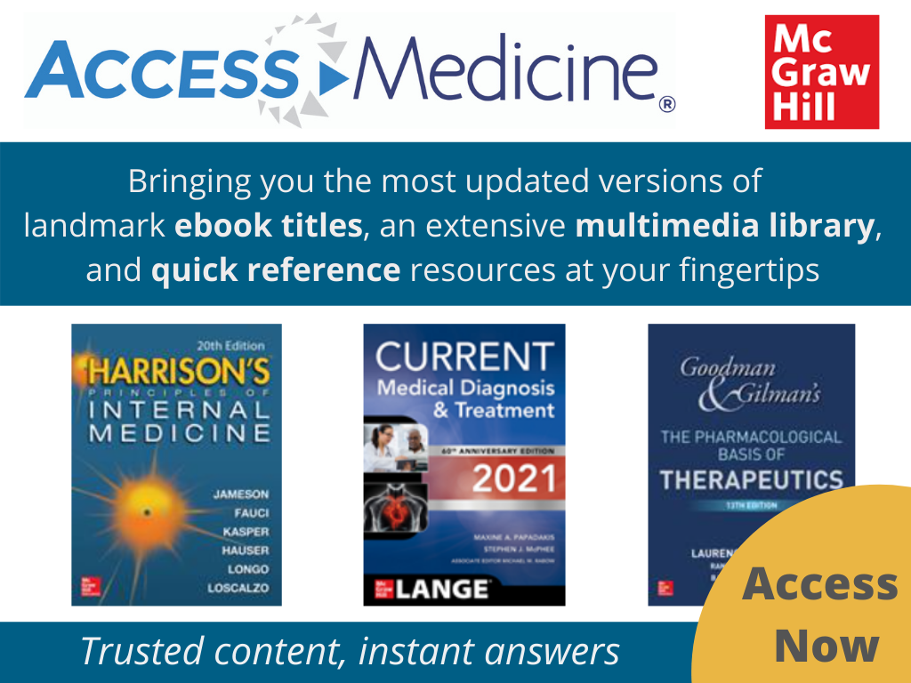 New eBooks available on Access Medicine