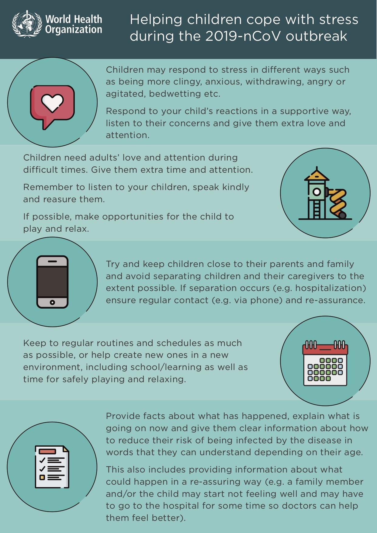 Infographic - Helping childre cope with stress during 2019-nCoV outbreak - World Health Organization