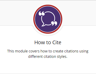 How to cite module covers how to create citations