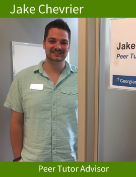 Jake Chevrier, Tutor advisor, Barrie.