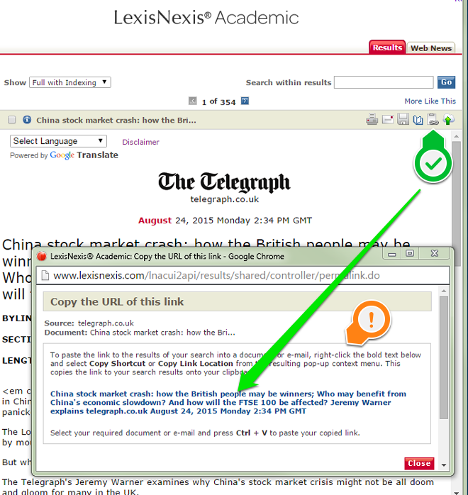 "Click the ""Copy Document Link"" icon, located in the top right corner, to reveal a popup menu that contains a clickable link.  Right click the link to obtain the stable URL."