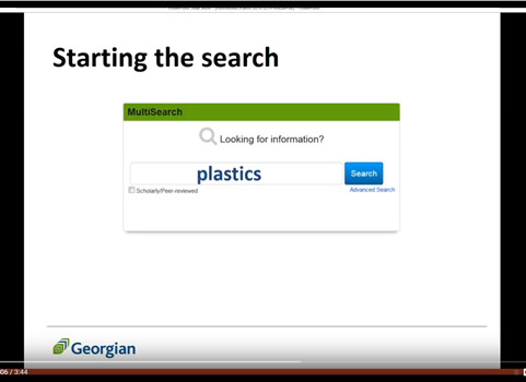 Starting the search in MultiSearch with the word: plastics.