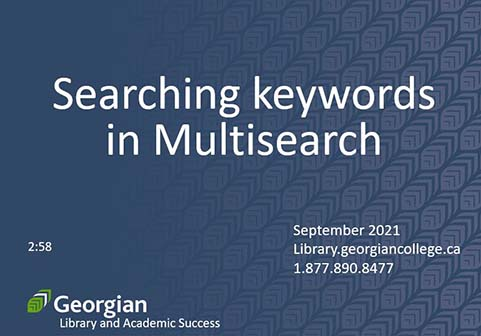 Searching keywords in Multisearch