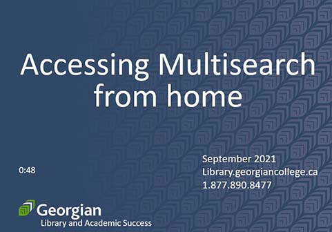Accessing Multisearch from home