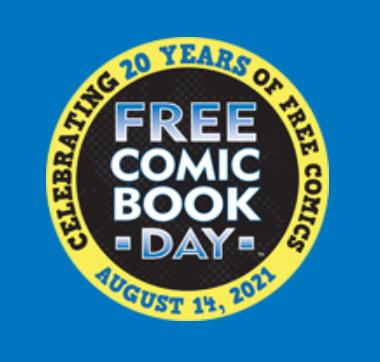 FCBD logo Celebrating 20 years of Free Comics