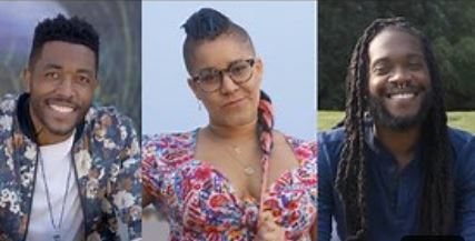 combined image of all three beautiful black people in the video