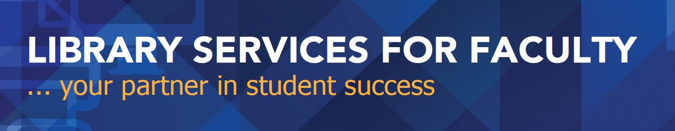 library services for faculty logo
