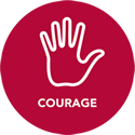 courage badge