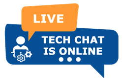 live tech chat is online