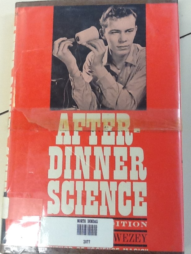 After Dinner Science Old Book Cover