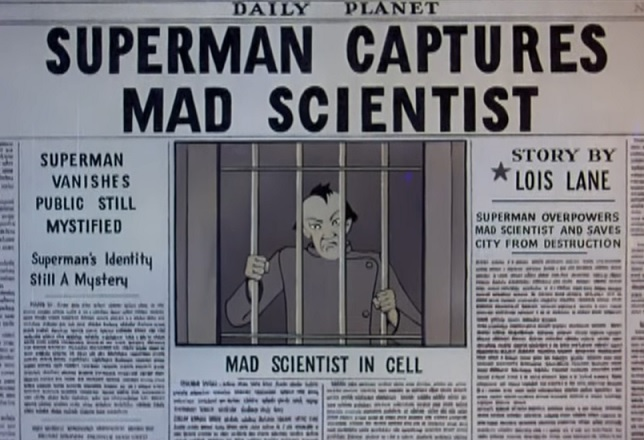 Daily Planet Headline Superman Captures Mad Scientist