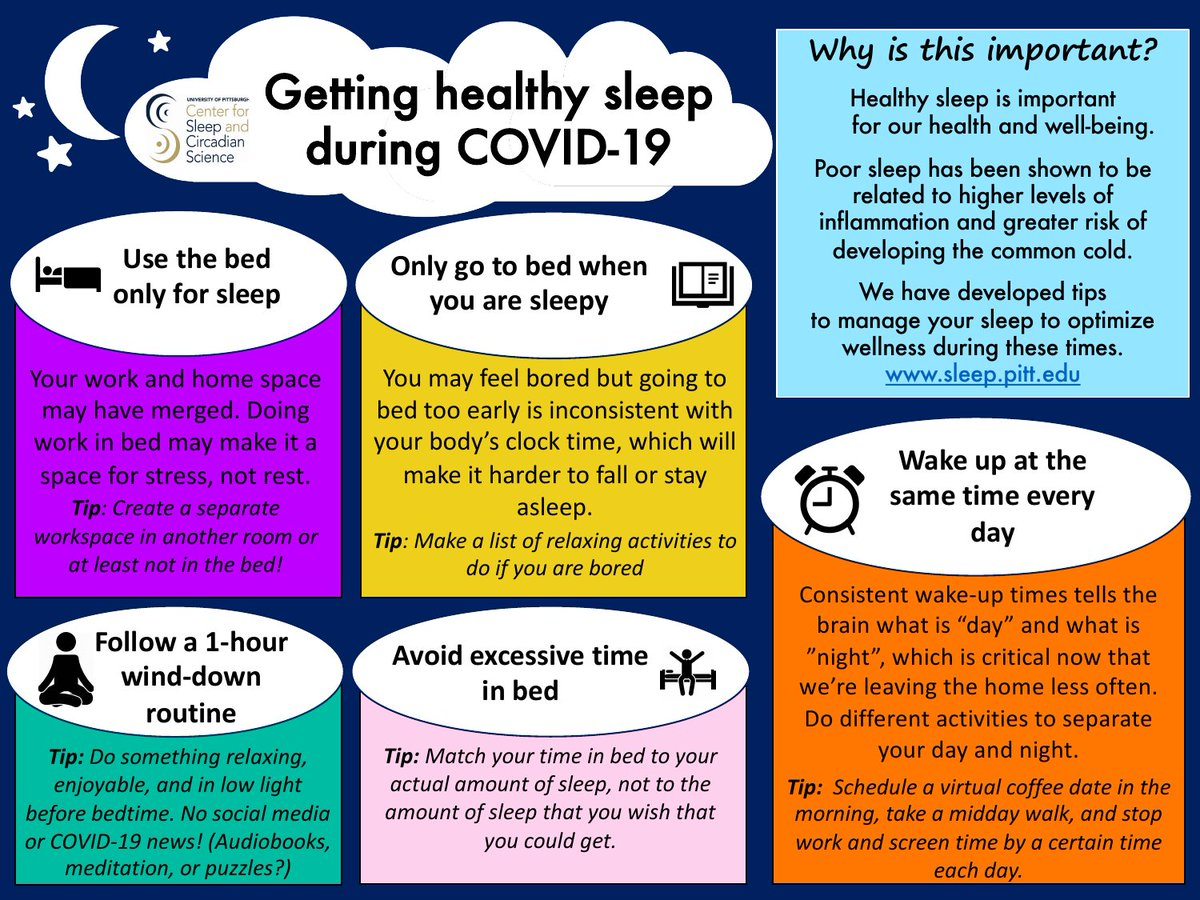 Getting Healthy Sleep During COVID-19 Infographic