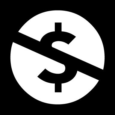 Non-commercial (NC) icon