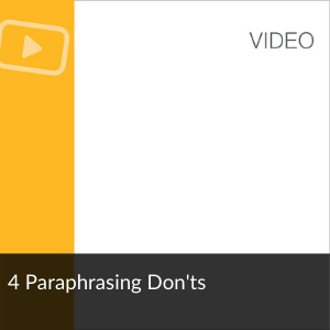 Video: 4 Paraphrasing Don'ts
