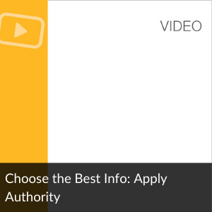 Video: Choose the Best Info: Apply Authority