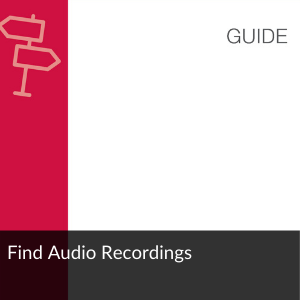 Guide: Find Audio