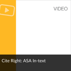 Video: Cite right ASA in-text citations