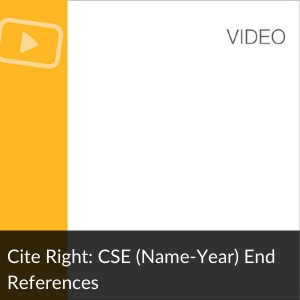 Video: Cite Right: CSE (Name-Year) End References