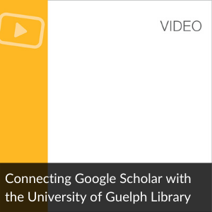 Link to Video: Connecting Google Scholar