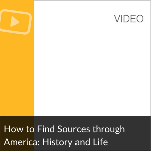 Video: Find Articles in America: History + Life