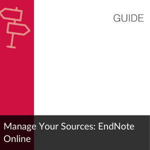 Guide: Manage your sources: EndNote Online
