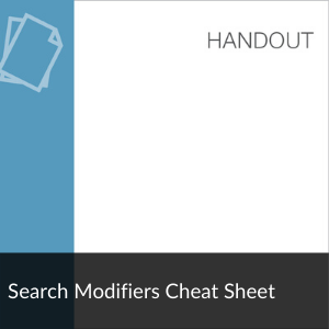 Handout: Search Modifiers Cheat Sheet