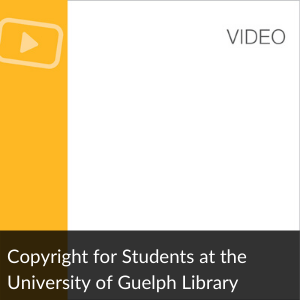 Video; Copyright for Students at the University of