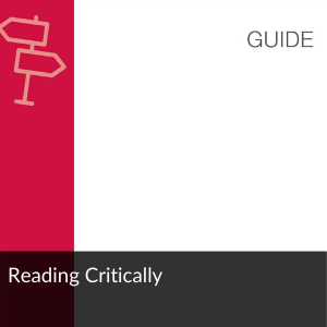 Guide: Study Effectively: Reading Critically