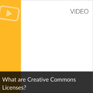 Link to Video: What are Creative Commons Licenses?