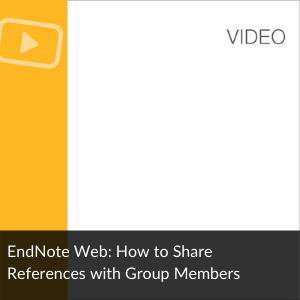 Endnote Online: How to share references with group