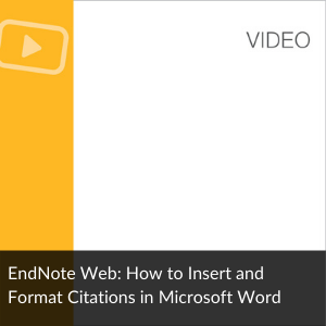 EndnoteOnline: how to insert and format citations