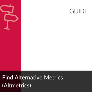 Link to Guide: Find Alternative Metrics
