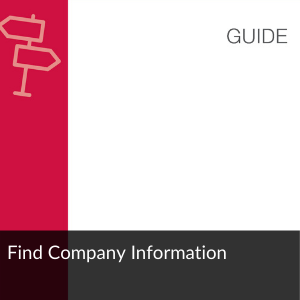 Guide: Find company information