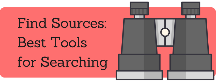 Link: Find Sources: Best Tools for Searching tab