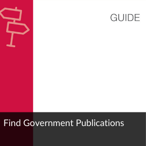 Guide: Find Government Publications
