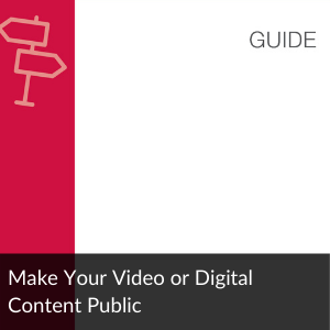 Guide: Make Your Digital Content Public