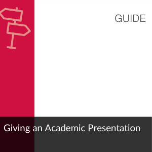 Present Like a Pro Giving an Academic Presentation