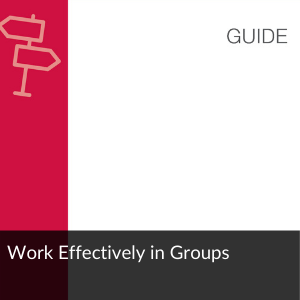 Guide: Work Effectively in Groups