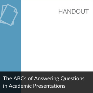 The ABCs of Answering Questions in Presentations