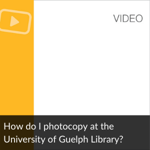 Video: How do I photocopy at the University of Gue