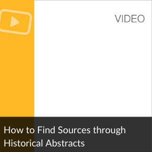 Video: Find Articles in Historical Abstracts