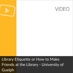 Video:  How to Make Friends at the Library
