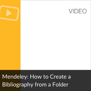 Link to Video: Create a Bibliography from a Folder