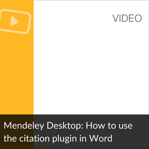 Link Video:How to use the Citation Plugin in Word