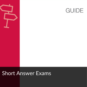 Guide; short answer exams