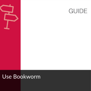 Link to guide: Use Bookworm