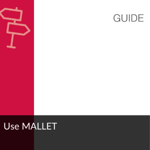 Link to guide: Use MALLET