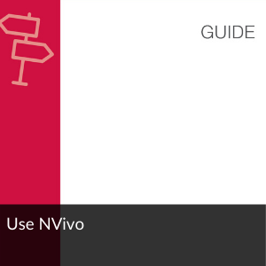 Link to guide: Use NVivo
