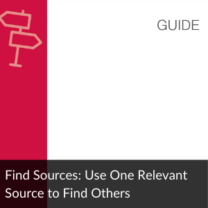 Guide: Use one source to find another