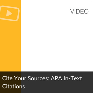 Video:  APA in-text citation